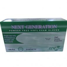 Next Generation Vinyl Exam Gloves, Powder-Free, Small, Ca1000