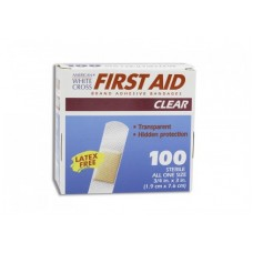 "Dukal American White Cross Clear Bandages - 1.5"" x 1.5"" - Bx100"
