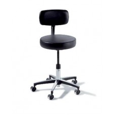 Midmark Ritter 275 Adjustable Stool with Chrome Base and Backrest
