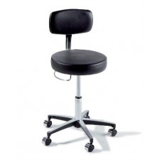 Midmark Ritter 277 Air Lift Stool with Chrome Base, Backrest and Hand Release