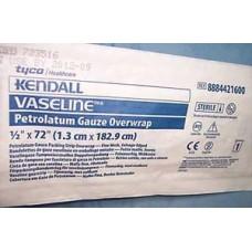Covidien Vaseline Petrolatum Gauze .5'' x 72'' Tube Foil Packs with Foil Overwrap Bx12