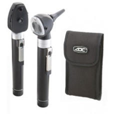 ADC Otoscope Ophthalmoscope Pocket Set - Two Handles - Soft Case