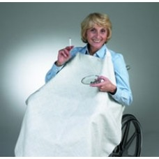 Skil-Care Geri-Chair Smokers Apron - White
