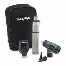 Welch Allyn Diagnostic Set with Standard Ophthalmoscope, MacroView Otoscope, Rechargeable Handle and Soft Case