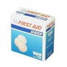 "Dukal Premium Sheer Plastic Spot Bandage - 7/8"" - Bx100"