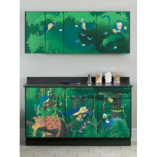 Clinton ''Rainforest Follies'' Wall and Base Cabinets