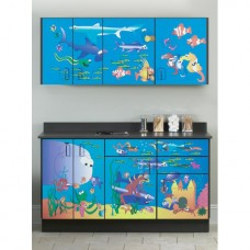 Clinton ''Ocean Commotion'' Wall and Base Cabinets