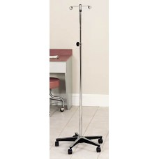 Clinton Five Leg IV Pole with Cast Aluminum Base
