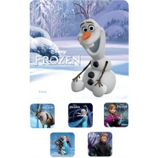 UAL Kids Stickers - Frozen - 2.5x2.5 - RL90