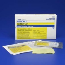 Kendall Xeroflo Gauze Dressings 5'' x 9'' with Overwrap Bx12