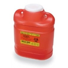 BD Red Sharps Collector 6.9 Quart- Ca12