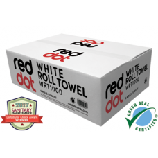 RedDot White Roll Towel - 7in x 1000ft - Ca6