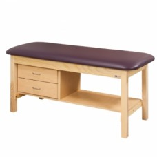 Clinton 1300 Flat Top Treatment Table with Shelf and Drawers