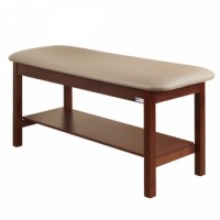 Clinton 200 Flat Top Straight Line Treatment Table with Shelf