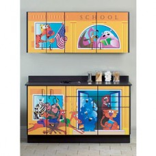 Clinton ''School House'' Base and Wall Cabinets