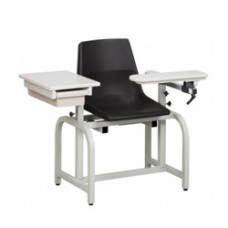 Clinton Blood Drawing Chair with Flip Arm and Drawer
