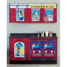 Clinton ''Firehouse'' Wall and Base Cabinets