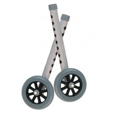 Drive 5'' Gray Walker Wheels with Two Sets of Rear Glides for Use with Universal Walker