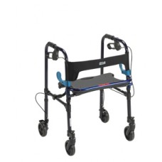 Drive Clever Lite Flame Blue Rollator Walker with 5'' Casters