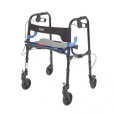 Drive Clever Lite Flame Blue Junior Rollator Walker with 5'' Casters