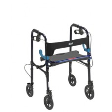 Drive Clever Lite Flame Blue Rollator Walker with 8'' Casters