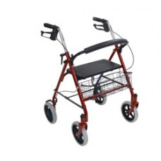 Drive Four Wheel Rollator Walker with Fold Up Removable Back Support