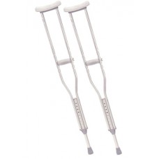 Drive Youth Walking Crutches with Underarm Pad and Handgrip