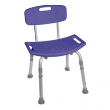 Drive Blue Bathroom Safety Shower Tub Bench Chair with Back