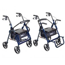 Drive Duet Blue Transport Wheelchair Rollator Walker