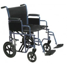 Drive Bariatric Heavy Duty Blue Transport Wheelchair with Swing Away Footrest