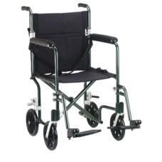 Drive 17'' Flyweight Lightweight Green Transport Wheelchair
