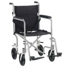Drive 19'' Flyweight Lightweight Silver Transport Wheelchair