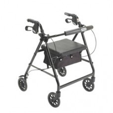 Drive Black Rollator Walker with Fold Up and Removable Back Support and Padded Seat