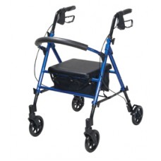 Drive Adjustable Height Blue Rollator with 6'' Wheels