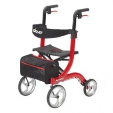Drive Nitro Euro Style Red Rollator Walker