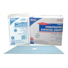 Dukal Sterile Fenestrated Drape Sheets - 18'' x 26''- Bx50