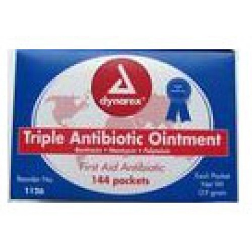 Dynarex triple antibiotic ointment packets 144 per box for Triple antibiotic ointment on tattoos