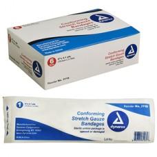 Dynarex Stretch Gauze Bandage Roll, Sterile 2'' Bx12