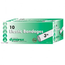 Dynarex Elastic Bandage with Metal Clip Closure, 3'' Bx10