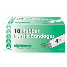 Dynarex Elastic Bandage with Metal Clip Closure, 4'' Bx10