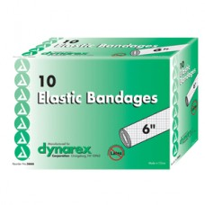 Dynarex Elastic Bandage with Metal Clip Closure, 6'' Bx10