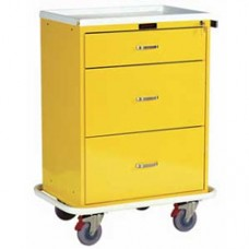 Harloff 6510 Classic Three Drawer Isolation Cart in Yellow
