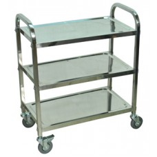 Luxor Stainless Steel 3 Shelf Cart