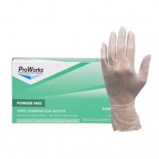 ProWorks Vinyl Exam Grade Powder Free Gloves, Large, Ca1000
