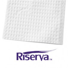 Riserva Professional Towels with Poly Backing - 13in x 18in - 2ply - White - Ca500