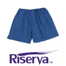 Riserva Disposable Exam Shorts - Blue - Large - Ca100