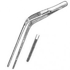 SMS Wilde Ear Forceps 5in Serrated Tip