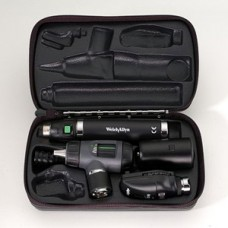 Welch Allyn Diagnostic Set with Standard Ophthalmoscope, Pneumatic Otoscope, Rechargeable Handle and Hard Case